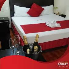sexy motel room with champagne and two glasses