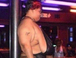 grotesque stripper in Cancun
