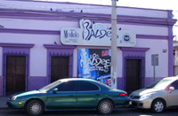 photos of the outside of Los Baldes strip club in Culiacan