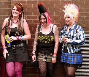 Fat Goth punk Colima girls