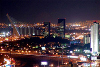 a picture of Monterrey city lights