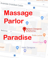 A map to the area where erotic massage parlors are located