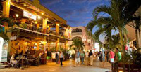 Playa del Carmen's 5th Avenue at night
