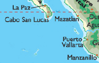 map of Western Mexico, including PV
