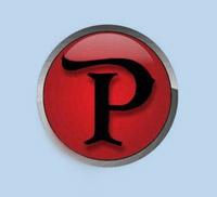 Pandora logo, a red circle with a black