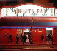Exterior view of Adelita's at night