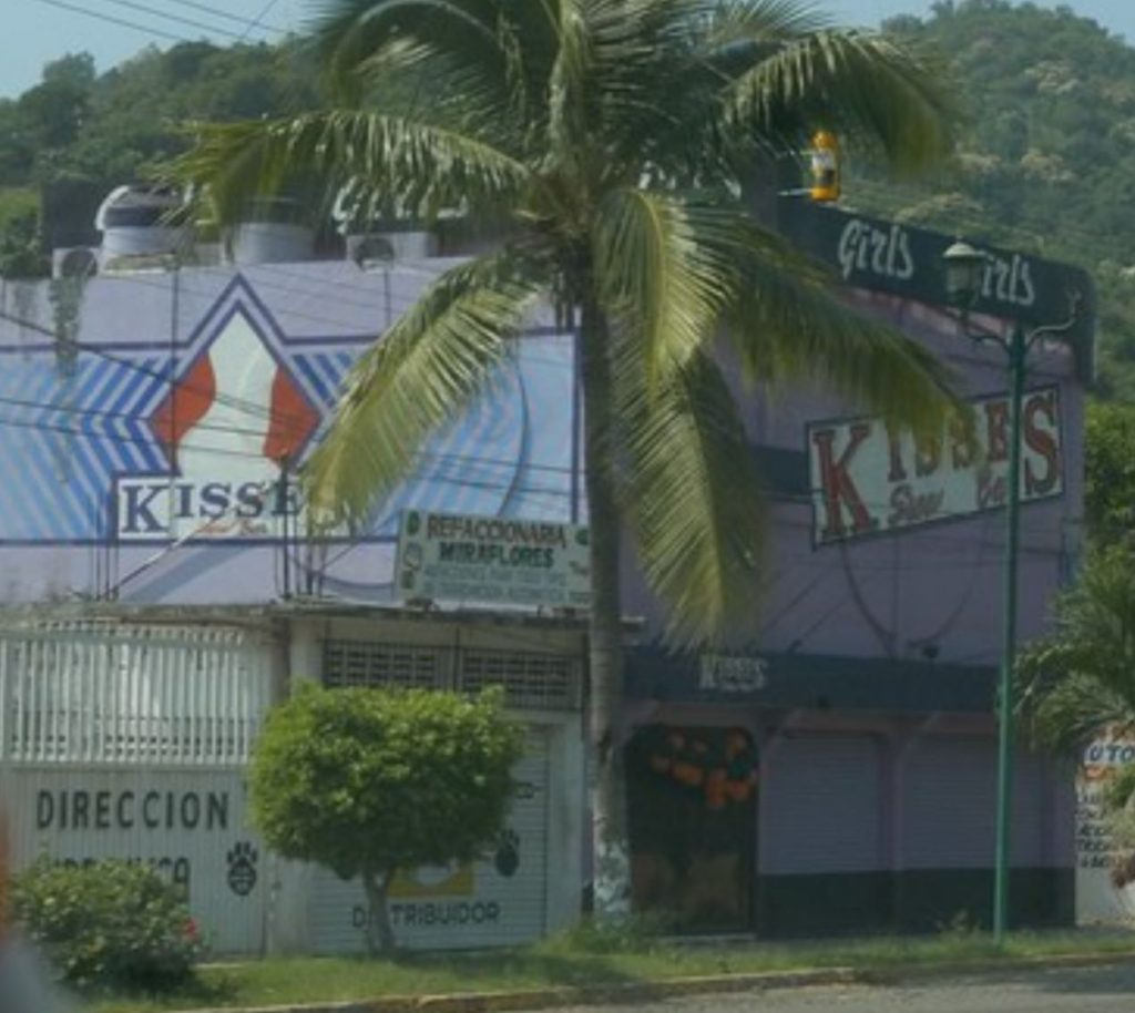 exterior view of Kisses Strip Club