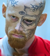 criminal with facial tattoos