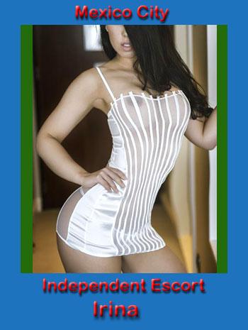 Irina wearing a see-through white bustier