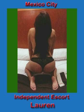 Lauren kneeling, facing away, naked except for black panties