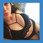 Valerie in black bra and panties